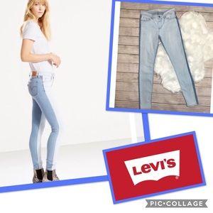 Euc two toned Levi's 711 skinny jean